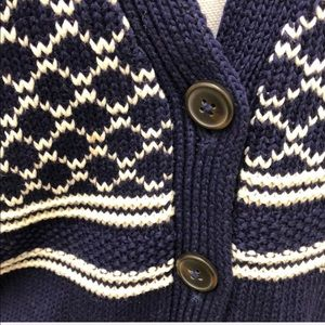 Madewell Sweaters - Madewell Blue White Stitchway Cardigan